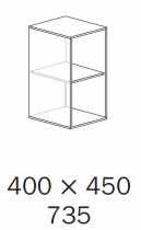 ALFA 500 Skříň 400x450x735, Divoká hruška