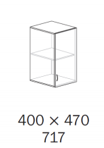 ALFA 500 Skříň 400x470x717 Nástavec Pravé,