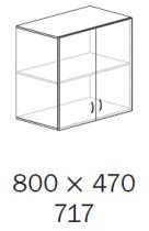 ALFA 500 Skříň 800x470x717 FT Nástavec Dveře<!----