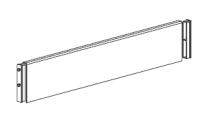ALFA 500 Příčka dělící pro kontejner široký RAL900