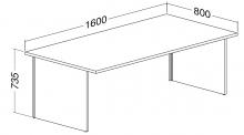 ALFA 100 Stůl kancelářský 103, Buk