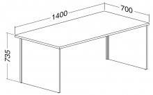 ALFA 100 Stůl kancelářský 106, Ořech