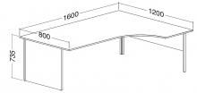 ALFA 100 Stůl kancelářský 107, Jabloň
