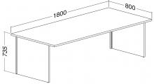 ALFA 100 Stůl kancelářský 104, Jabloň