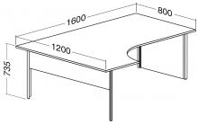 ALFA 100 Stůl kancelářský 108, Jabloň
