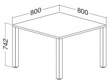 ALFA 200 Stůl kancelářský 200, Divoká hrušk
