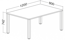 ALFA 200 Stůl kancelářský 201, Buk