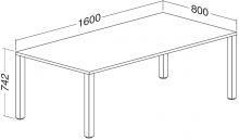 ALFA 200 Stůl kancelářský 203, Ořech