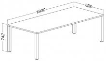 ALFA 200 Stůl kancelářský 204, Jabloň