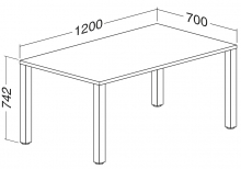 ALFA 200 Stůl kancelářský 205, Ořech