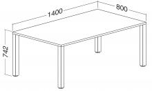 ALFA 200 Stůl kancelářský 202, Jabloň