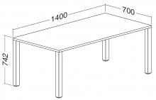ALFA 200 Stůl kancelářský 206, Jabloň