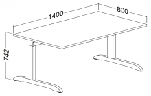 ALFA 300 Stůl kancelářský 302, Divoká hrušk