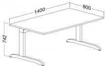 ALFA 300 Stůl kancelářský 302, Jabloň
