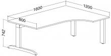 ALFA 300 Stůl kancelářský 307, Buk