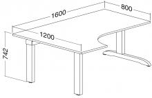 ALFA 300 Stůl kancelářský 308, Divoká hrušk
