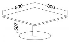 ALFA 400 Stůl konferenční 409, Ořech
