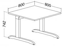 ALFA 300 Stůl kancelářský 300, Divoká hrušk