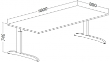ALFA 300 Stůl kancelářský 304, Bílá